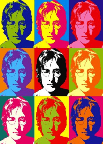 THE BEATLES - JOHN LENNON - pop art canvas print - self adhesive poster - photo print